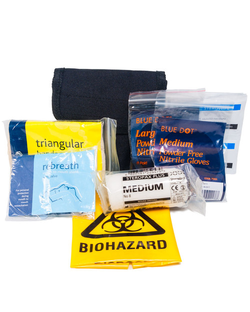 Police Personal First Aid Kit | Showing Contents | Physical Sports First Aid