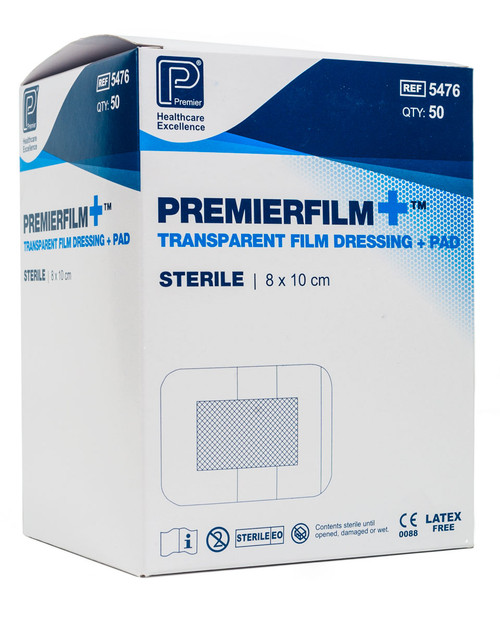 Premierfilm+ Dressings | Box Shot | Physical Sports First Aid