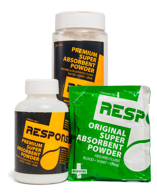 Response Super Absorbent Powder   Group Shot   Physical Sports First Aid