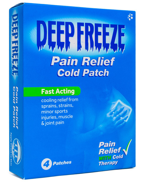 Deep Freeze Cold Patches   Pack of 4   Physical Sports First Aid