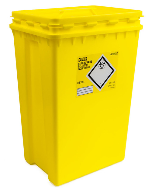 Sharpsafe Clinical Waste Bin 60l | Physical Sports First Aid