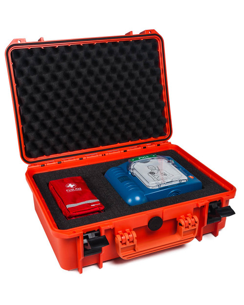 Heartstart HS1 and Prep Kit in Waterproof Case | Physical Sports First Aid