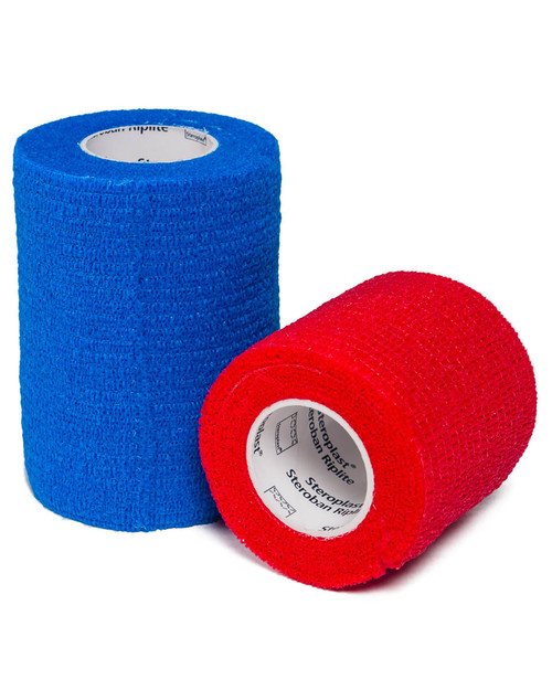 Steroban Cohesive Riplite | Red and Blue | Physical Sports First Aid