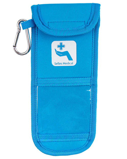 Double EpiPen Pouch, Blue | Front Panel View | Physical Sports First Aid