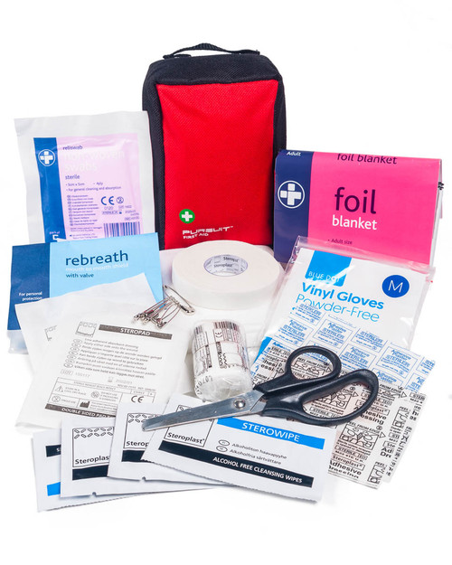 Snow Sports First Aid Kit | Pocket Size | Red Bag | Physical Sports First Aid