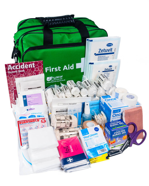 Big First Aid Kit | With Green Holdall | Physical Sports First Aid