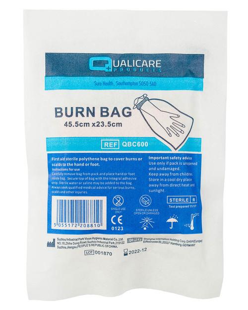 Sterile Burn Bag 45.5cm x 23.5cm | Pack Shot | Physical Sports First Aid