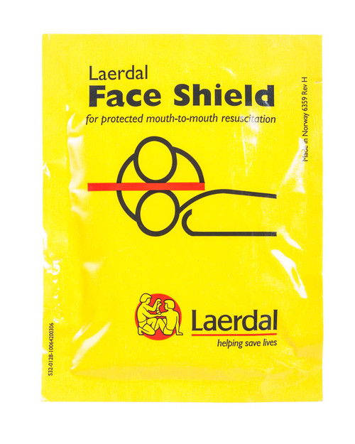 Laerdal Face Shield | Foil Wrapped | Physical Sports First Aid