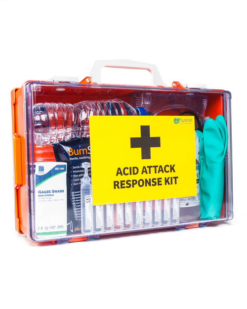 Acid Attack Response Kit in Wall Cabinet | Physical Sports First Aid