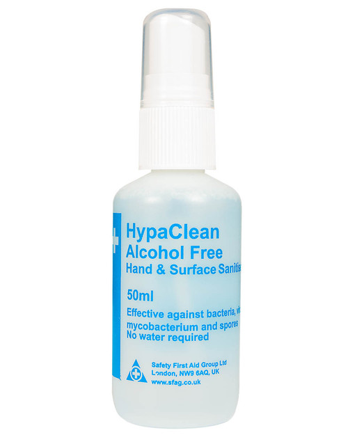 HypaClean Hand and Surface Sanitiser | 50ml Spray Bottle | Physical Sports First Aid