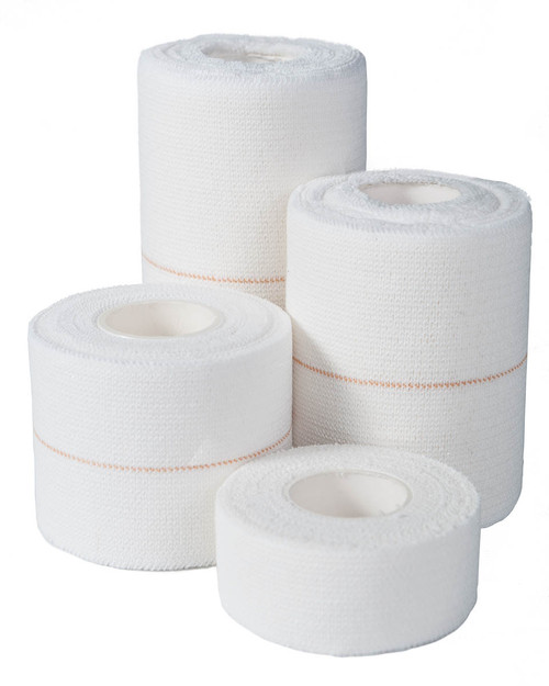 Qualicare Elastic Adhesive Bandage   Group Shot of Four Sizes   Physical Sports First Aid