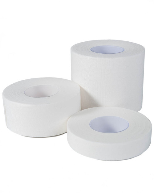 Straight Zinc Oxide Tape | Group Shot of 3 Sizes | Physical Sports First Aid