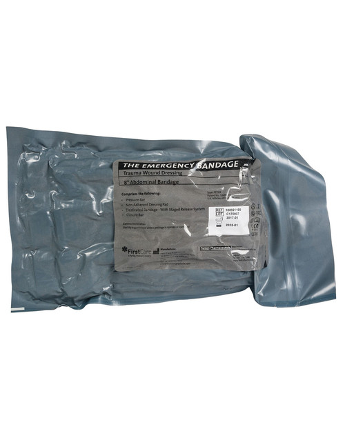 """The Emergency Bandage   8"""" Abdominal Type in Vacuum Wrap   Physical Sports First Aid"""