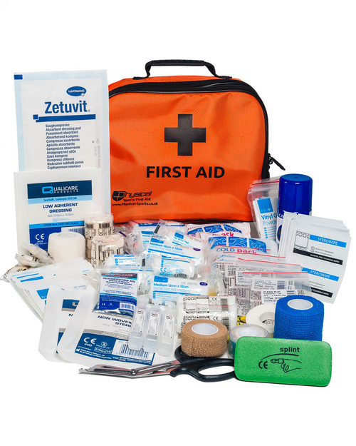 Advanced Netball First Aid Kit | Orange Incident Bag with Contents | Physical Sports First Aid