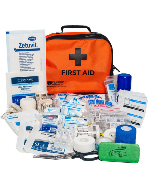 Advanced Hockey First Aid Kit | Orange Incident Bag with Contents | Physical Sports First Aid