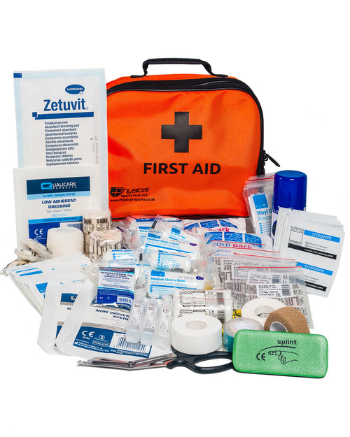 Advanced Cricket First Aid Kit | Orange Incident Bag with Contents | Physical Sports First Aid