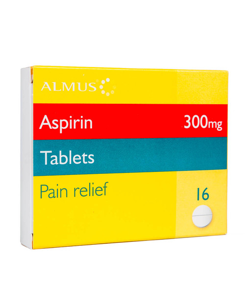 Aspirin 300mg | Pack of 16 Tablets | Physical Sports First Aid