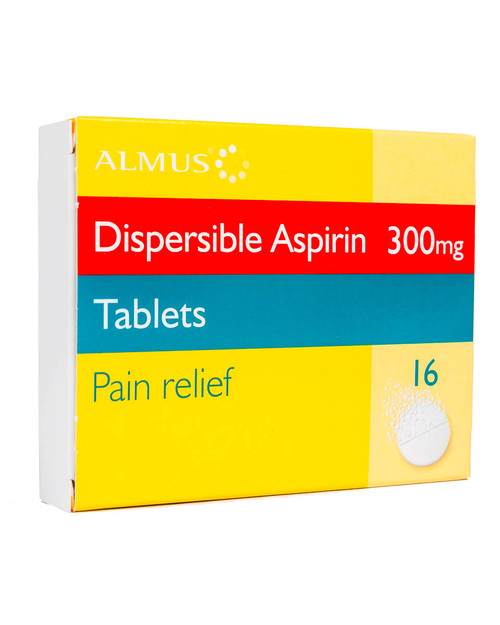 Dispersible Aspirin 300mg | Pack of 16 Tablets | Physical Sports First Aid