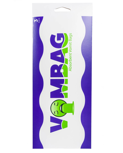 VOMBAG absorbent vomit and urine bag | 3 Pack | Physical Sports First Aid