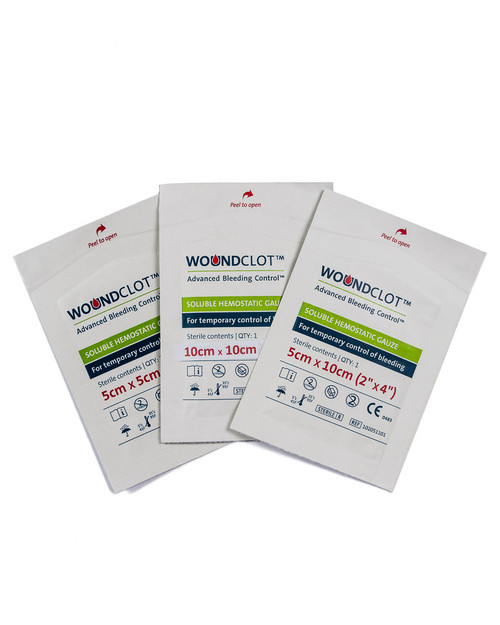 WouncClot Haemostatic Gauze | Group Pack Shot | Physical Sports First Aid
