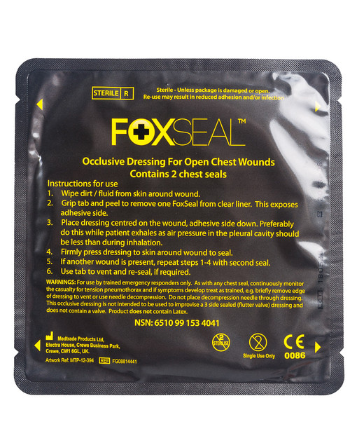 FoxSeal Chest Seal | Pack Shot | Physical Sports First Aid