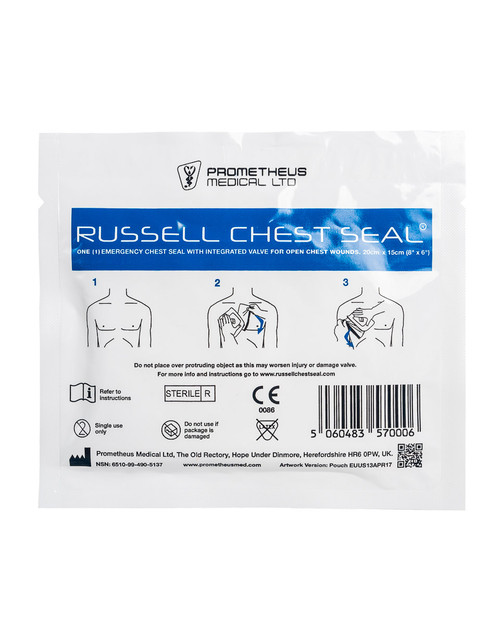 Russell Chest Seal | Pack Shot | Physical Sports First Aid