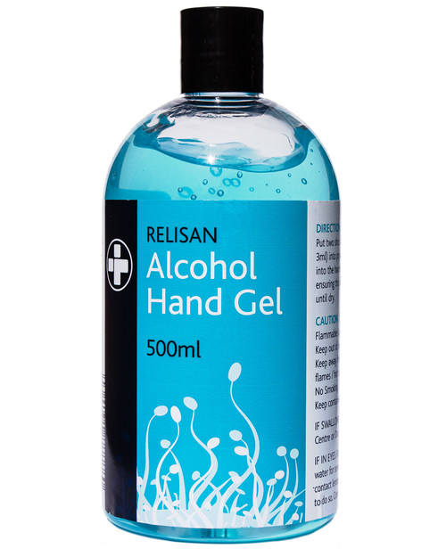 Relisan Alcohol Hand Gel 500ml Bottle | Physical Sports First Aid