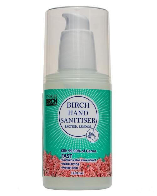 Birch Hand Sanitiser | 100ml Pump Top Bottle | Physical Sports First Aid