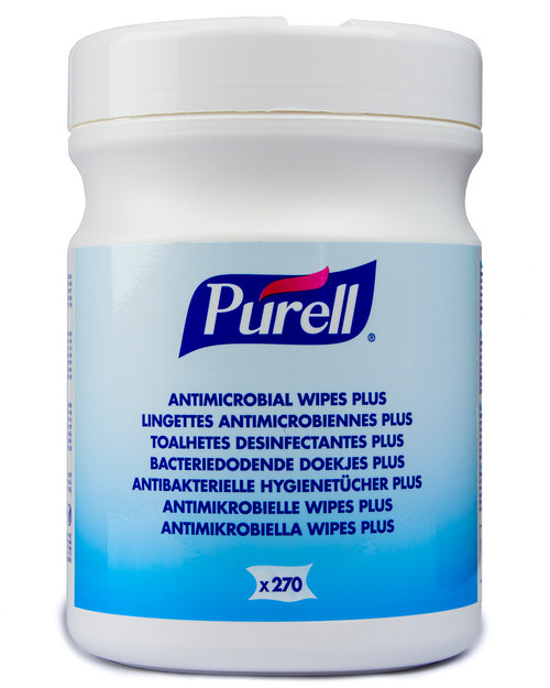 Purell Antimicrobial Wipes Plus | Drum of 270 | Physical Sports First Aid