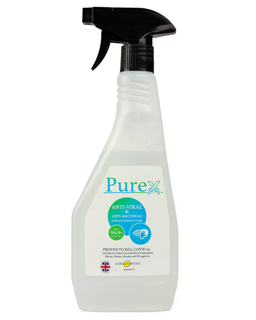 Purex Surface Disinfectant | 500ml Ready to Use Trigger Spray | Physical Sports First Aid