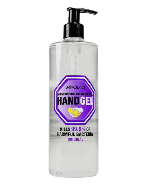 Anovia 70% Alcohol Gel | 525ml Pump Top Bottle | Physical Sports First Aid