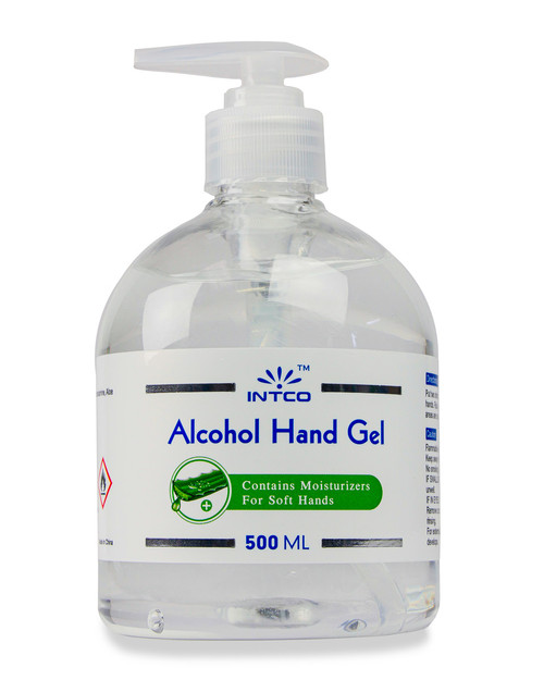 Intco Alcohol Hand Gel | 500ml Pump Top Bottle | Physical Sports First Aid