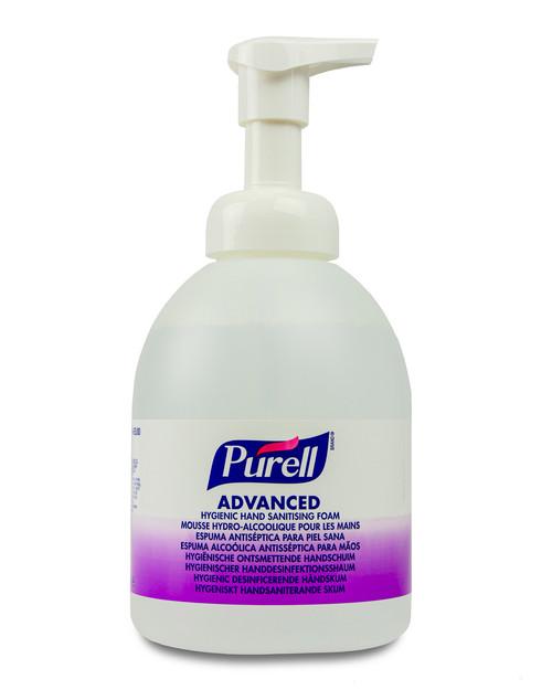 Purell Advanced Hygienic Hand Sanitising Foam | 535ml Pump-Top Bottle | Physical Sports First Aid