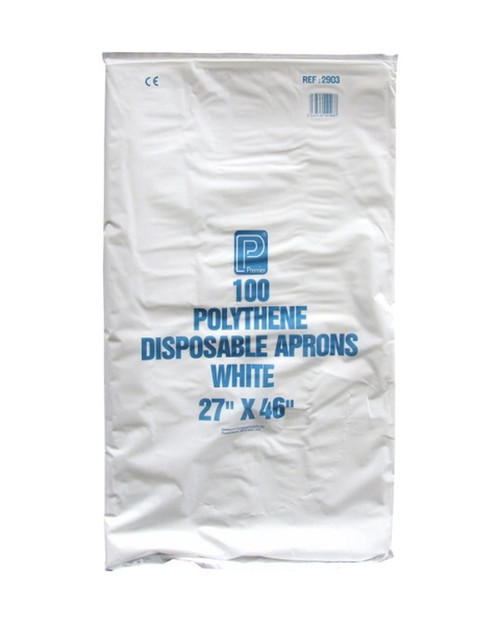 Polythene Disposable Aprons White   Physical Sports First Aid