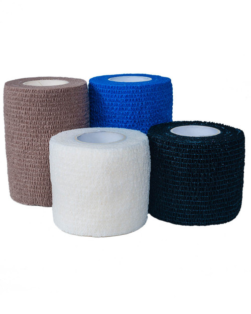 Cohesive Bandage | Blue, Black, White and Tan | Physical Sports First Aid