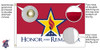 Honor And Remember 2x3 Feet Nylon Flag Made in USA