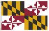 Maryland 4'x6' Nylon State Flag 4ftx6ft