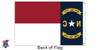 North Carolina 4x6 Feet Nylon State Flag Made in USA