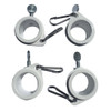 """3/4"""" To 1 Inch White Rotating Flag Mounting Rings (Qty 4, 1 Inch)"""