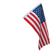 Banner Sleeved American Flag 2.5x4 Ft Nylon Presidential Series Sewn 2-1/2'x4' US Flag 30x48in