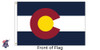 Colorado 6x10 Feet Nylon State Flag Made in USA