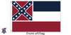 Mississippi 6x10 Feet Nylon State Flag Made in USA