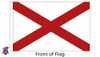 Alabama 8x12 Feet Nylon State Flag Made in USA
