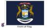 Michigan 8x12 Feet Nylon State Flag Made in USA