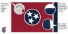 Tennessee 8x12 Feet Nylon State Flag Made in USA