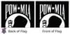 POW MIA Double Sided 8ftx12ft Nylon Flag 8x12 Made in USA 8'x12'