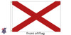 Alabama 3x5 Feet Nylon State Flag Made in USA