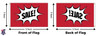 Custom Double Sided 3ftx5ft Nylon Flag 3x5 Made in USA 3'x5'