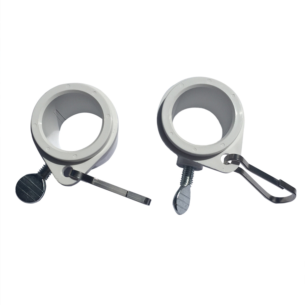 "Rotating Flag Mounting Rings WHITE 2 Pack fits 1/"" Diameter Flag Pole Made in USA"