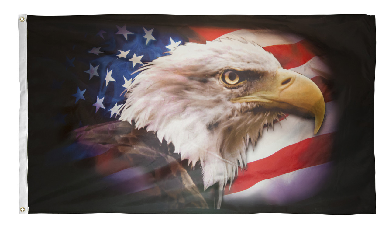 5/' x 3/' The Flying Eagle Flag USA US America American Flags Banner